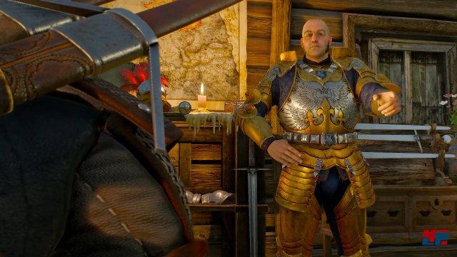 Das Abenteuer beginnt mit dem Hilfegesuch der Herzogin Henriette aus Toussain. Zwei ältere Ritter und alte Bekannte Geralts holen ihn in Velen ab.