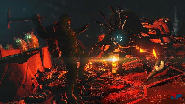 Die Gefechte gegen die skurrilen Gegner wirken in der virtuellen Realität intensiv.