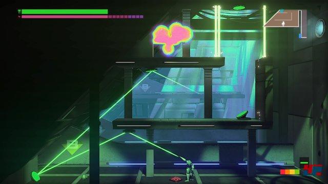 Wie bekommt man den grünen Laser über fünf Stationen optimal reflektiert?