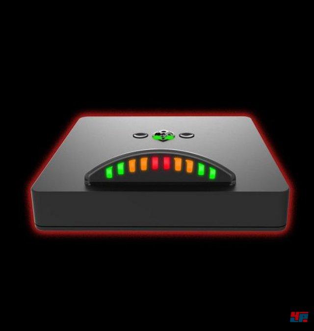 Der DriveHub zeigt durch kleine LEDs die Drehzahl an.