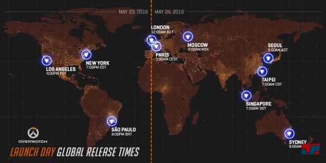 Startzeiten von Overwatch
