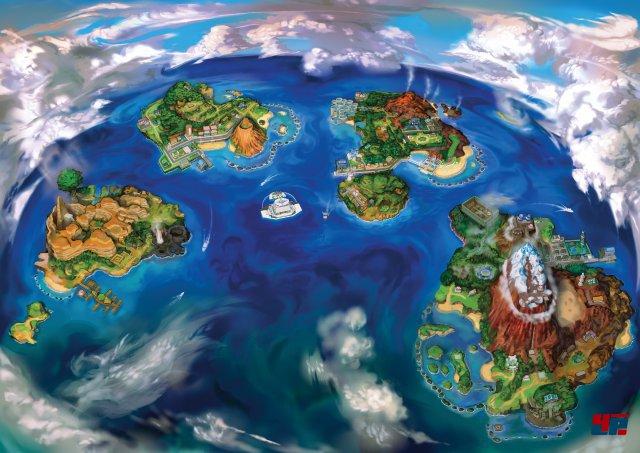 Die tropischen Inseln der Alola-Region.