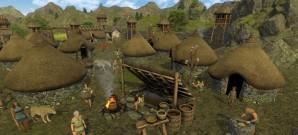 Gemütlicher Aufbau in der Steinzeit