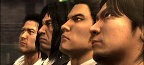 Drei Yakuza in einer Sammlung