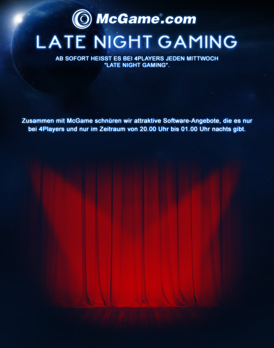 McGame Late Night Gaming Vorhang
