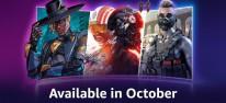"""Amazon: Prime Gaming im Oktober 2021: """"Ingame-Loot"""" und Spiele für Abonnenten, u.a. Star Wars Squadrons, Alien: Isolation & Ghostrunner"""