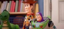 Sora kämpft 2018 mit Woody und Buzz Lightyear gegen die Herzlosen