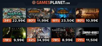 Gamesplanet: Anzeige: Gamesplanet-Angebote zum Wochenstart, u.a. Steep - 6,99 Euro; Two Point Hospital - 22,99 Euro; Soulcalibur 6 - 29,99 Euro