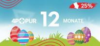 4Players PUR: Unser PUR-Abo im Oster-Sale mit 25% Rabatt: jetzt nur 22,50 Euro für zwölf Monate!