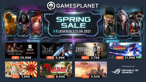 Product Image Gamesplanet Spring Sale: über 2.000 Spiele um bis zu 93% reduziert + 24h-Flash-Deals