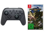 Product Image Nintendo Switch ProController + Monster Hunter Rise