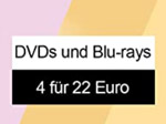 Product Image 4 Blu-rays oder DVDs für 22€