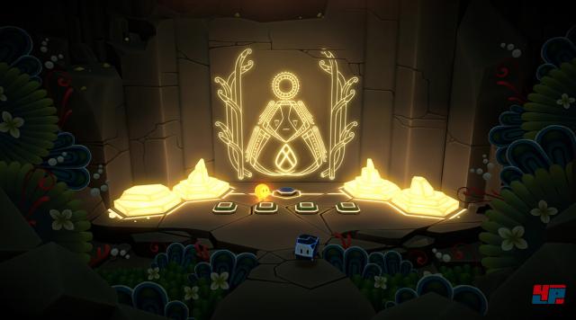 Wie kann man das Portal öffnen? Vier Symbole muss man in korrekter Reihenfolge aktivieren.