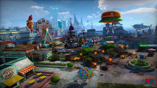 Ein riesiger Spielplatz wartet in Sunset City.