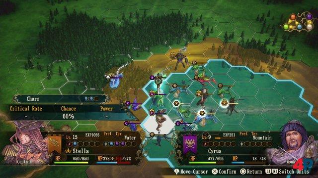 Die territorialen Schlachten finden als rundenbasierte Hexfeld-Auseinandersetzungen statt.