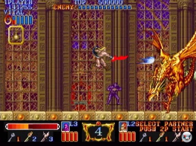 Über die Jahre hat sich der Golden Axe-Weg als sicher erwiesen, die Wahl des Fantasy- und Mythologie-Bereiches ist bis heute ein typisches Aushängeschild des Hack-n-Slays - was kein Wunder ist, denn zum Hacken und Slayen dient meist ein Schwert, eine Axt oder etwas Stumpfes mit Nägeln drin. Besonders Capcom war in den frühen Neunzigern sehr fleißig dabei; Spiele wie Magic Sword waren vor der Jahrtausendwende typisch - sowohl für die Firma als auch für das Genre. 2074788