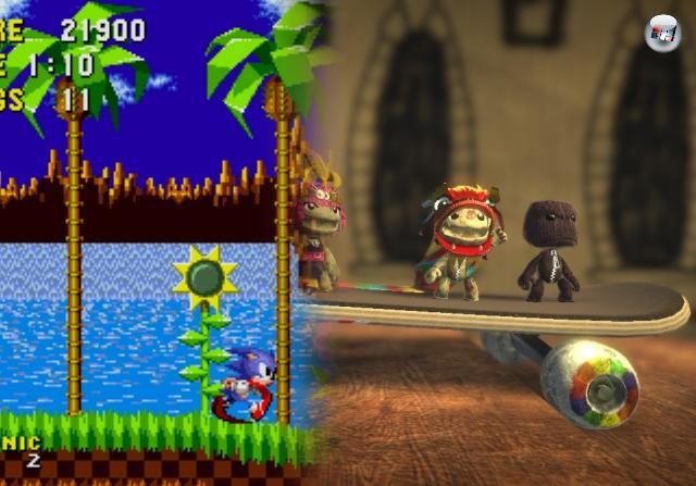 Und natürlich wollen wir einen gewissen blauen Igel nicht vergessen, der das erste ernsthafte Gegengewicht zu Nintendos Vorzeigehüpfer bot. Außerdem sind Sidescroller auch heute noch populär wie eh und je - man denke dabei an den Kreativbaukasten LittleBigPlanet, das Jump-n-Fight Trine oder die motivierende Highscorejagd Canabalt. 2100093