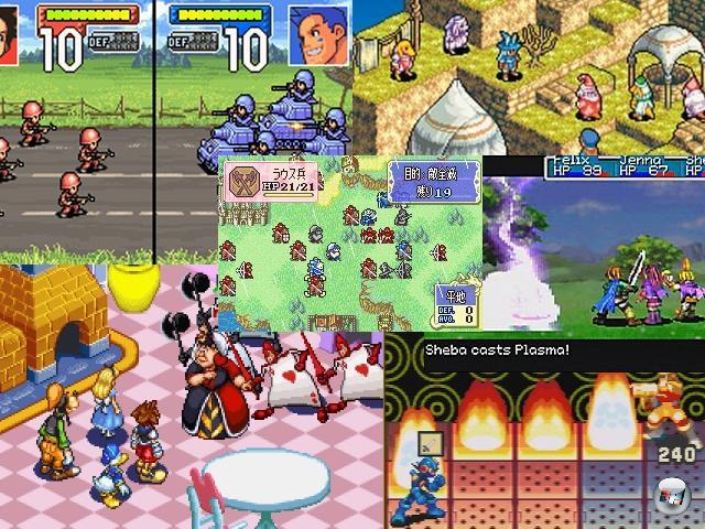 Wir wollen natürlich nicht den Eindruck erwecken, dass der GBA eine reine Action-Plattform war. Obwohl es wahnsinnig viele Hüpf- und Ballerspiele gab, war der Zwerg auch und gerade für Taktik- und Rollenspielfans sehr interessant. Titel wie Advance Wars, Final Fantasy Tactics, Fire Emblem, Kingdom Hearts: Chain of Memories, die MegaMan Battle Network-Spiele oder die Golden Sun-Serie boten ausufernd langen, tiefschürfenden Spielspaß. 1805148