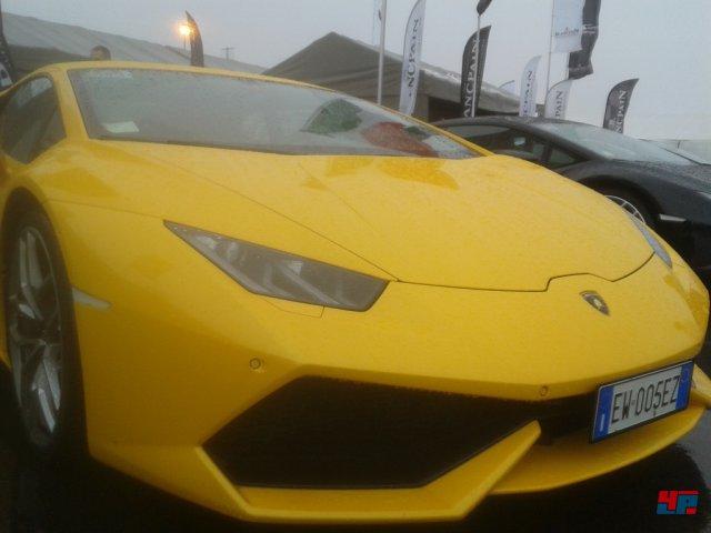 Der neue Lamborghini Huracan durfte ebenfalls am Ring bewundert werden.