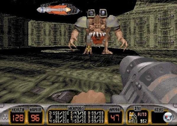 <b>Duke Nukem</b><br><br>Die ersten beiden Teile waren tolle Jump-n-Runs, der dritte ein phänomenaler Ego-Shooter. Für den vierten, der bestimmt schnell entwickelt sein dürfte, könnte man sich ein ebenso unterhaltsames Wortspiel ausdenken wie »Duke Nukem 3D«, denn »Duke Nukem 4« klingt ein bisschen öde. Hmmmm... »Duke Nukem 4«... »Duke Nukem Four«.... hmm... »Duke Nukem For«... HA! »Duke Nukem Forever«! Heureka! Das wird bestimmt toll! 1966113