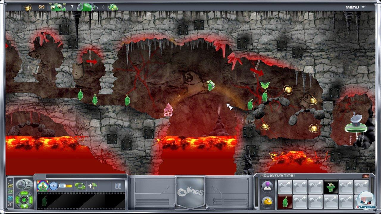 Fast wie früher: Brodelnde Lava und viele fiese Fallen versperren den Weg der Lemminge - pardon - Klone.