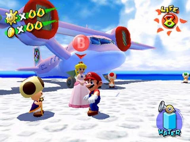 Super Mario Sunshine <br><br> Ein Spiel, in dessen Titel sich schon der Sonnenschein ausbreitet, kann eigentlich nur perfekt zur Frühlingsstimmung beitragen, oder? Schon nach wenigen Sekunden quillt das Südsee-Flair aus dem Bildschirm, während man mit dem Kult-Klempner die sonnendurchfluteten Level mit erfrischenden Wasser-Düsen im Gepäck erforscht.  2076823