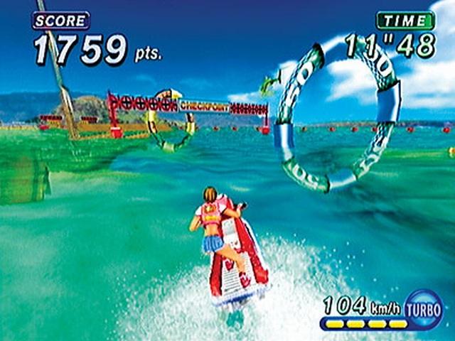 Wave Race: Blue Storm <br><br> Mit steigenden Temperaturen gewinnt auch der Wassersport wieder mehr an Reiz. Wave Race bietet mit seinem kristallklarem Wasser und einladenden Schauplätzen das perfekte Ambiente für Jet-Ski-Freunde.   2076843