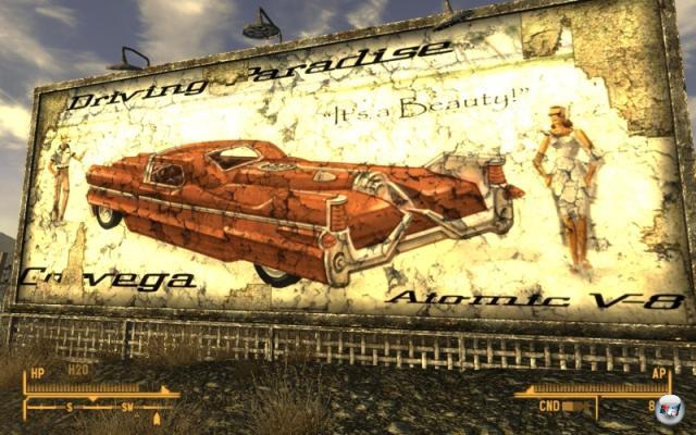 Fallout: New Vegas<br><br>Das fünfte Spiel, das fünfte Entwickler-Team. Diesmal saß Second Hand-Spezi Obsidian am Ruder und zeigt, dass versierte Zweitverwertung besser ist als arkane Zereinfachung. Lässt die »3« übrigens vorsätzlich missen, weil es eine unabhängige Geschichte erzählt. Von der Ostküste geht es nämlich ins sonnige, aber nicht ganz so verstrahlte Las Vegas – das Ganze findet drei Jahre nach Fallout 3 statt, sprich: 39 Jahre nach Fallout 2, also 119 Jahre nach Fallout und damit 203 Jahre nach dem nuklearen Volleyball zwischen den USA und China im Jahre 2077. Ihr seht: Kein Grund zur Sorge! Unseren Reisenbericht findet ihr übrigens irgendwo auf diesen Seiten. 2168903