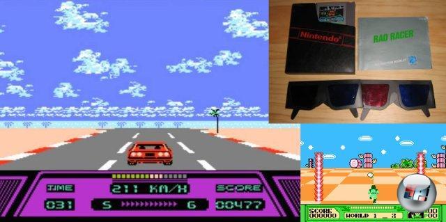 <br><br>In der Videospielindustrie versuchte man schon relativ früh, die Spiele mit einem 3D-Effekt aufzuwerten. So lag z.B. bereits den NES-Titeln Rad Racer (1987) und 3D World Runner (1987) eine Papp-Brille bei, mit denen ein räumlicher Eindruck entstand. 2049223