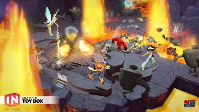 Im Toybox Takeover werden alle Figuren und Playsets zu einem unterhaltsamen Action-Adventure gemischt.