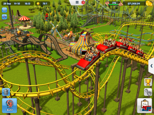 Screenshot - RollerCoaster Tycoon 3 (iPad)