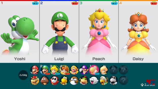 Zu Beginn stehen 16 Charaktere zur Verfügung.
