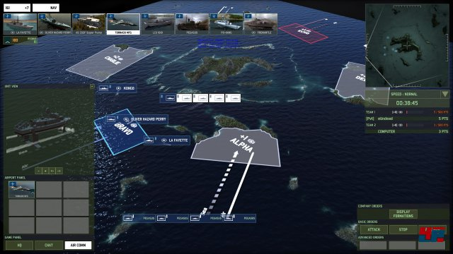Es gibt reine Seekarten - hier kann das Potential der Schiffe voll genutzt werden.
