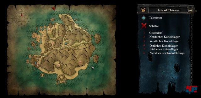 Karte: Insel der Diebe