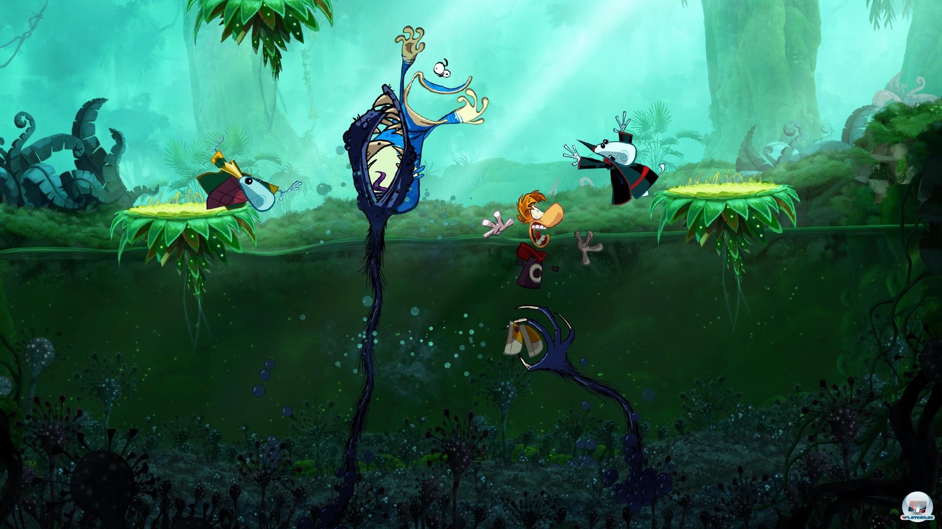 Bis zu drei Spieler kämpfen kooperativ gegen gefräßige Wasserpflanzen und andere aufdringliche Widersacher - allerdings nur offline.