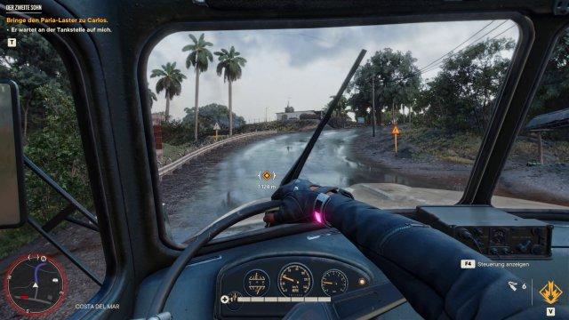 PC: Raytracing-Reflexionen auf nasser Straße.