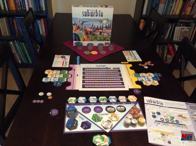 Suburbia ist komplett auf Deutsch bei Lookout Games erschienen. Es kostet knapp 35 Euro und ist für 1 - 4 Spieler ausgelegt.