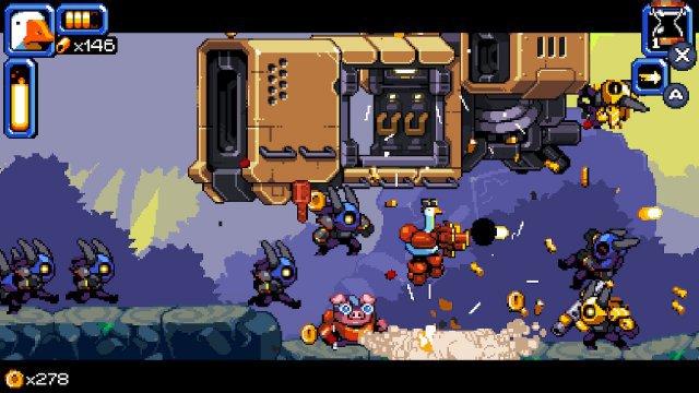 Immer wieder setzen Transporter feindliche Truppe an - cool, denn das sind mehr Gegner zum Umnieten.