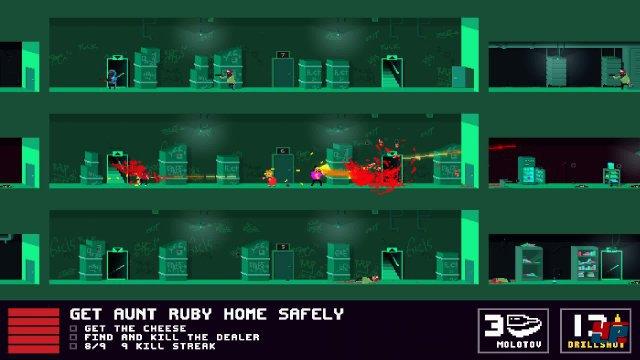 """Auch in """"Retro-2D"""" wird nicht mit Pixelblut und schneller Action gegeizt."""