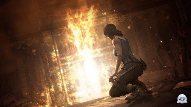 Feuer spielt eine große Rolle: Man kann über Explosionen sowohl Rätsel lösen als auch jede Menge Feinde ins Jenseits befördern - auch mit Napalmpfeilen.