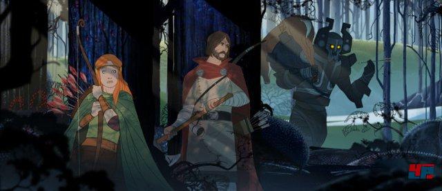The Banner Saga<br><br>Independent-Neulinge sind drei ehemalige BioWare-Mitarbeiter. Die haben sich vor etwa zwei Jahren selbstständig gemacht und ihr erstes Projekt in Eigenregie entwickelt. Es geht ums Überleben einer Karawane, die sich nicht nur im Rundenkampf gegen Feinde von außen wehren, sondern auch Konflikte in den eigenen Reihen klären muss.