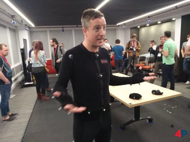U WOT M8? - Schauspieler Gwyn Jones im hauseigenen Motion-Capture-Studio.