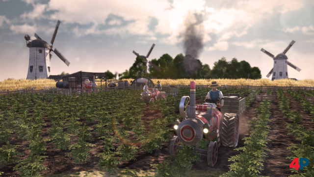 Mit den Traktoren lassen sich nicht nur Getreidefarmen ausbauen und verbessern.