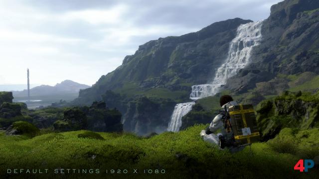 """Wasserfall-Szene aus dem Prolog in 1080p mit """"Normaler"""" Grafikqualität."""