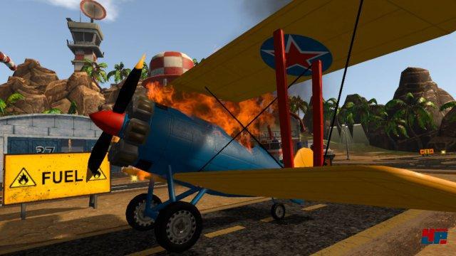 Brennende Flieger müssen am Boden gelöscht werden.