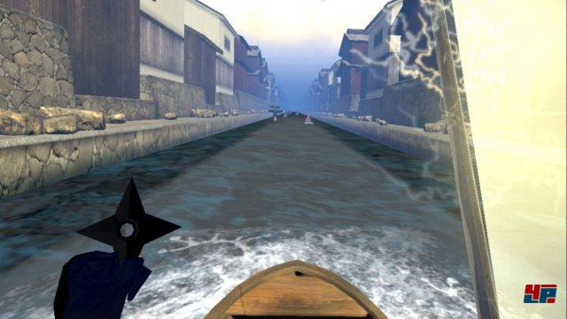 Egal ob im Sattel oder in einem Boot: es geht immer schnurstraks geradeaus...