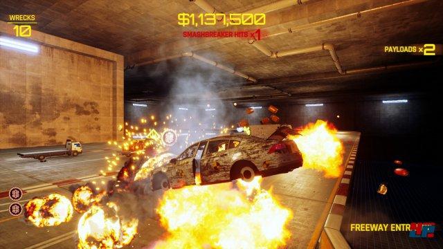 Der SmashBreaker lässt das eigene Fahrzeug abheben. Das fliegende Wrack kann dann noch gesteuert werden.