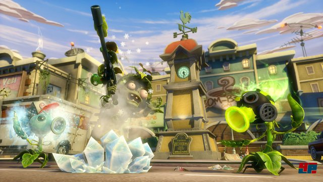 Die Kampfschreie der Erbsenkanone erinnern an Kenny aus South Park und erklingen immer, wenn sie mit dem Turbo-Sprint übers Schlachtfeld flitzt.