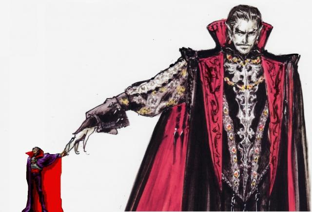 <b>Dracula (Erstauftritt in Castlevania)</b><br><br>Untot zu sein ist ein Stimmungstrüber, dazu noch ständig von vorbeiziehenden Peitschenschwingern per Pflockstoß aus dem Schlaf gerissen zu werden, dürfte dem Transsilvanier auf Dauer ebenfalls genervt haben. Rache: Die Bossfights gegen den Mantelträger gehören zu den anspruchsvollsten aller Jump'n Runs, zumal auch kein Ende abzusehen ist - untot zu sein bedeutet nun mal, ständig wiederzukommen... 1887623