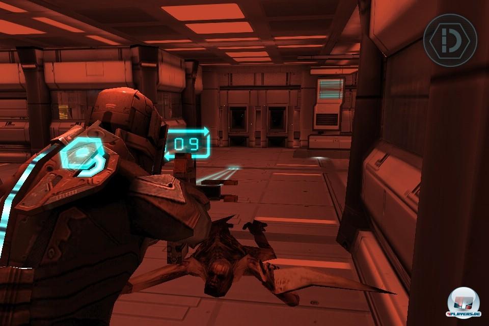 Der gute alte Plasmacutter in Aktion: Die fachgerechte Absäbelung einzelne Nekromorphen-Teile ist nach wie vor eine der Säulen des Dead Space-Spieldesigns.